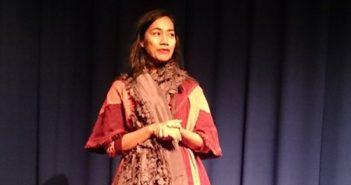 """Schrijfster, regisseur en filmproducer Nia Dinata was aanwezig tijdens de openingsavond van de vertoning van haar films in het Haagse Filmhuis met als titel """"Retrospective Nia Dinata's Films""""."""