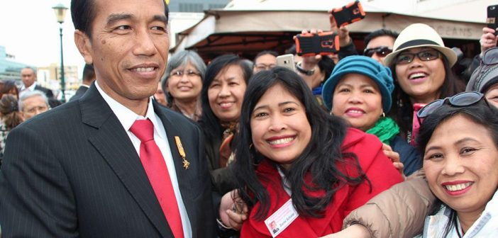 Jokowi di Belanda